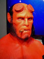 Hellboy silicon bust by BobbyC1225