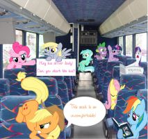 A Typical Bus Ride In Ponyville by FuzzyyPanda