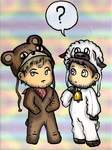 The teddy bear and the sheep. by renezinha