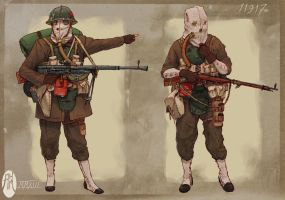 WWXI soldiers by BistroD
