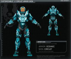 Halo 4   Oceanic armor   Skin Circuit   By 343I by Goyo-Noble-141