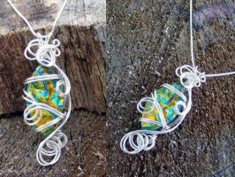 Wire Wrap Fused Dichroic Glass by Create-A-Pendant