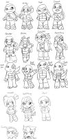 Shell Tots Characters by WolffangComics