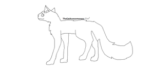 Cat Lineart 1 by TheCatAwesomeness