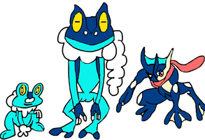 Froakie Evolution by tanlisette