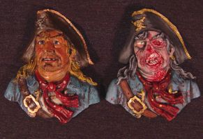 Zombie Pirate Compare Magnet by Undead-Art