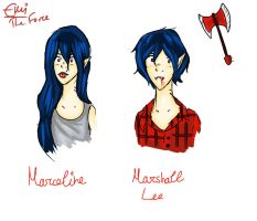 Marceline / Marshal Lee AT by iAmTheForcex3