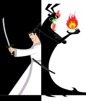 Jack vs Aku by Dark337