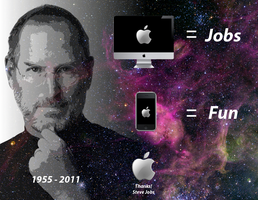 Steve Jobs, thanks. by Jeyco