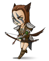 Teeny Tiny Aela by Elle-H