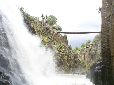 Waterfall in Basaltic Prisms Mexico by Myzh