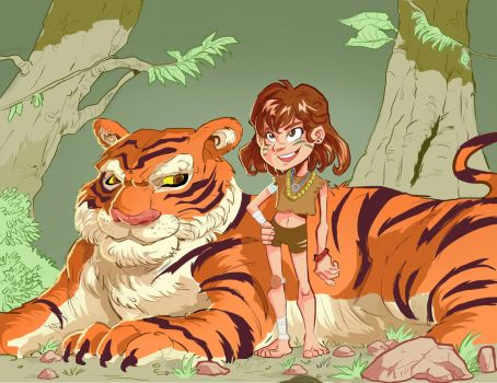 Tiger girl by Mei-Hong1612