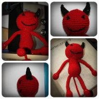 Crochet: Red demon by Engelina-c