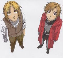 My Drawing of Edward and Alphonse Elric by AngelBeatsHisako050