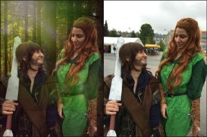 Tauriel and Kili by Mischief-Mellisa
