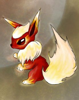 Cinderpaws the flareon by Pink-Death-Pigeon