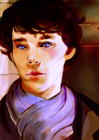 Commission: Sherlock by akuiesh