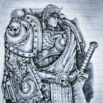 Simple Daily Sketch 27 - Roboute Guilliman by imaan8298