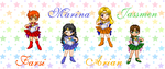 Chibi New Generation Scouts 2 by SailorMoonParadise