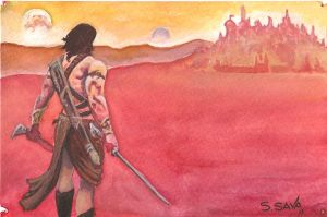 John Carter Watercolor Sketch. by ssava