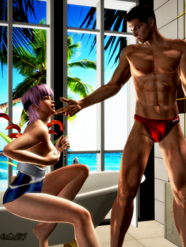 Ayane with Piers Nivans by vladcepesh