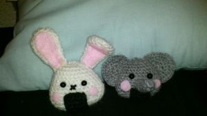 Elephant and Bunny Onigiri by passionfyre
