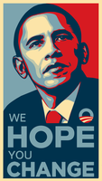 We Hope You Change Obama Poster by brainhiccup
