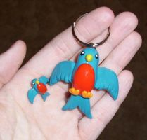 Swallow Charm and Keychain by happysquidmuffin