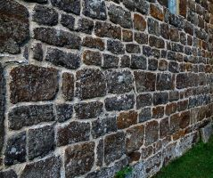 sandstone wall by awjay
