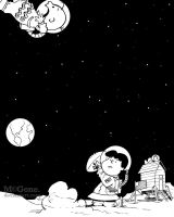 You're In Orbit, Charlie Brown by mcguan