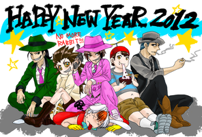 Toon Patrol New Year's Card by SaltyDew