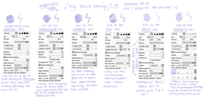 my brush settings by twinelights