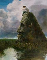 Girl on Rock by zesung