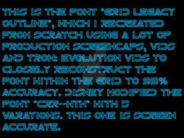 Tron Legacy Grid Font by Pencilshade