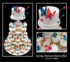 Spring Painted Butterflies by shunjin