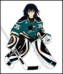 Melfina - San Jose Sharks by EX388