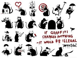 Banksy Rats by theerdman1