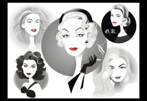 Golden Age Glamour Collage by nicoletaionescu