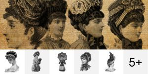 Victorian Lady PS Brushes by Designslots