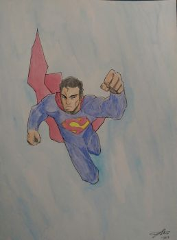 Superman (watercolor) - 2016 by HashBandit