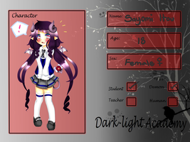 { App } Dark-Light Academy: Sayomi Itou by Sharmander-chama