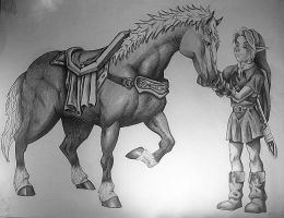 Link and Epona by Imgema