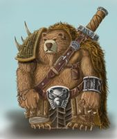 bear swordsmaster by Tygodym