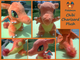 Chibi Charizard Plush by methuselah-alchemist