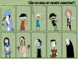 Can You Guess My Fav Characters? by Wyrmin