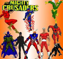 A New Mighty Crusaders collage by Gwhitmore
