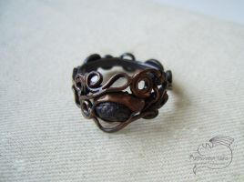 Garnet Copper Ring by Rolary