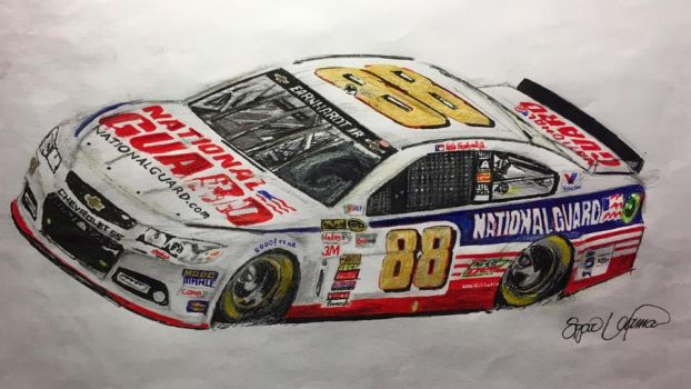 Dale Earnhardt Jr's 2014 Daytona 500 winning car by RowdyVarma4