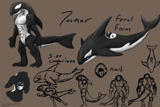 Janmar the Orca - reference by SesakaTH by AuraGuardianHadou