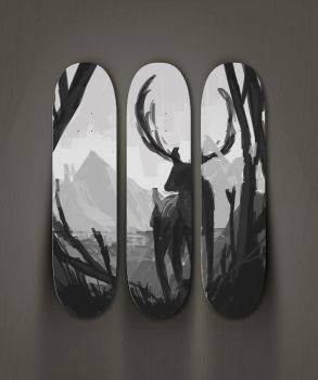 skateboard design sneak peak by Itrebur